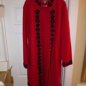 Women's Long Heavy Cardigan Sweater Wool Coat
